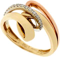 Fancy Three Colour Diamond Dress Ring