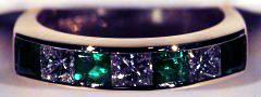 Emerald & Princess Cut Diamonds