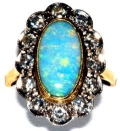 Large Oval Opal Cluster