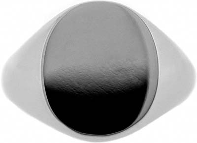 Chard Platinum Gents Oval Signet Ring