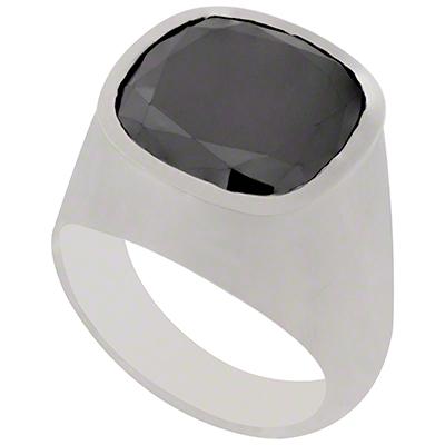 Gents Large Black Diamond Ring