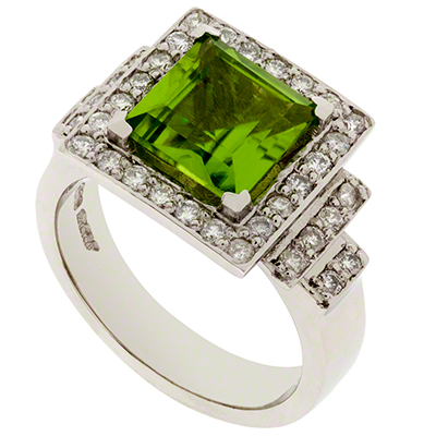 Peridot and Diamond Dress Ring