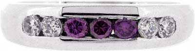 Purple Diamond Eternity Ring