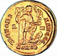 Victoria Auggg Reverse of Gold Solidus of Honorius
