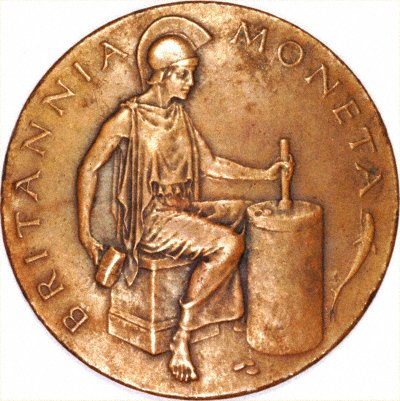 Royal Mint Medallion Showing Britannia Moneta