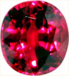 Oval Cushion Shaped Ruby 1.24 Carats