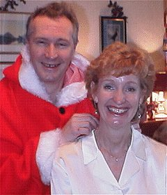 Ann Martindale with Santa