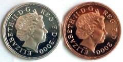 Obverse of Silver and Bronze Pennies