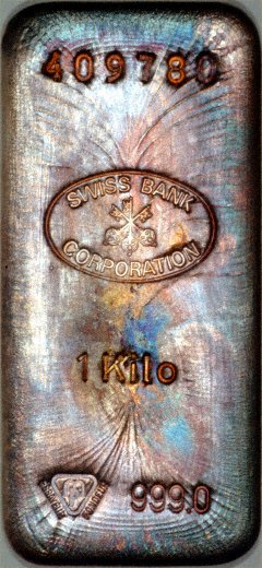 1 Kilo Swiss Bank Corporation Silver Bars Amp Certificate