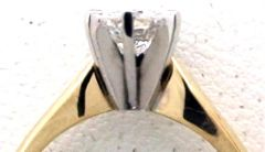White Gold Collet on Yellow Gold Shank