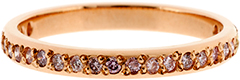 Diamond Set Rose Band