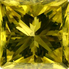 Princess Cut Yellow Diamond