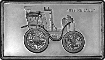 Obverse of Silver Medallion - 1899 Renault