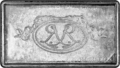 Reverse of Silver Medallion - 1899 Renault