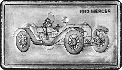 Obverse of Silver Medallion - 1913 Mercer