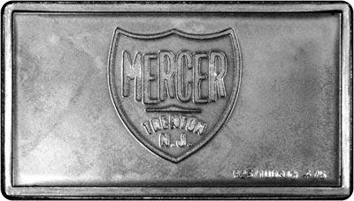 Reverse of Silver Medallion - 1913 Mercer