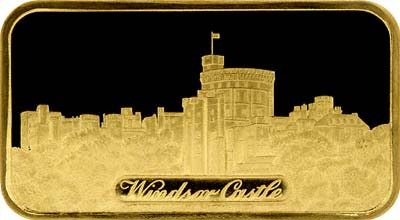 Obverse of Windsor Castle Gold Ingot