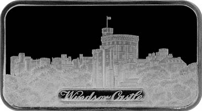 Obverse of 1972 Windsor Castle Silver Ingot