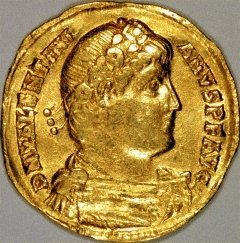 Portrait of Valentinian I on a Gold Solidus