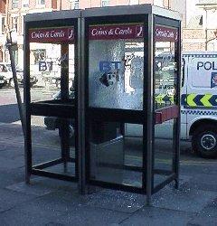 Smashed Telephone Box