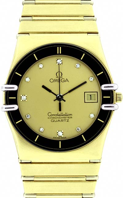 gents gold omega
