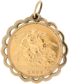 Half Sovereign Pendants