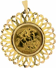 1925 Half Sovereign Pendant