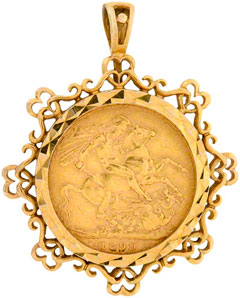 Second Hand Sovereign Pendant