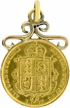 1887 Half Sovereign Pendant