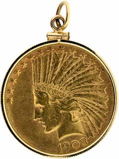 1908 US $10 Pendant