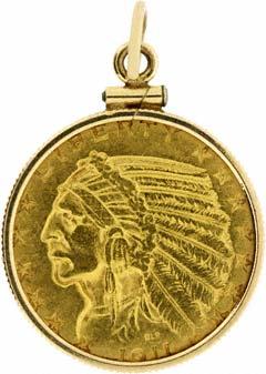 1911 US $5 Pendant