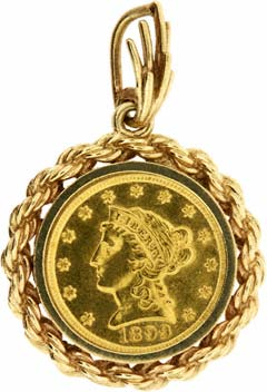 1893 Double Sovereign Pendant