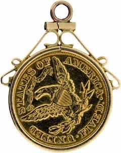 1880 US $5 Pendant