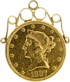 1887 US $10 Pendant