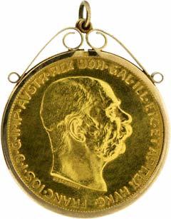 1915 Austrian 100 Corona Pendant