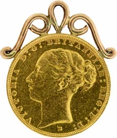 1886 Sovereign Pendant