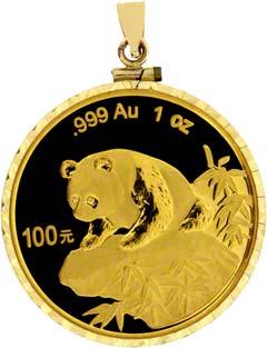 1999 1oz Gold Panda Pendant