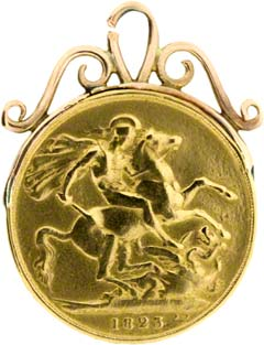 1823 Double Sovereign Pendant